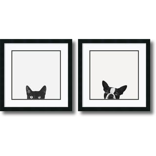 Jon Bertelli 'Curiosity and Loyalty- set of 2' Framed Art Print 22 x 22-inch Each