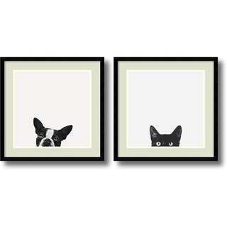 Jon Bertelli 'Loyalty and Curiosity- set of 2' Framed Art Print 20 x 20-inch Each