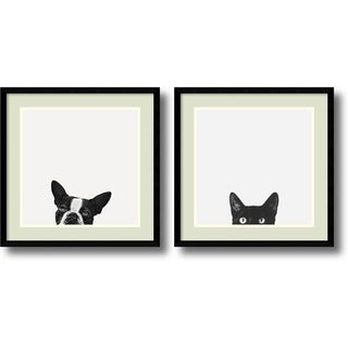Framed Art Print 'Loyalty and Curiosity - set of 2' by Jon Bertelli 20 x 20-inch Each