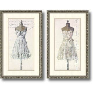 Leila 'Tres Jolie and Elegante- set of 2' Framed Art Print 19 x 31-inch Each