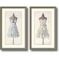 Framed Art Print 'Tres Jolie and Elegante  - set of 2' by Leila 20 x 32-inch Each