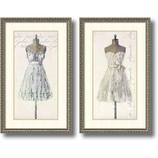 Framed Art Print 'Tres Jolie and Elegante - set of 2' by Leila 20 x 32-inch Each