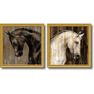 Martin Rose 'Horse- set of 2' Framed Art Print 30 x 30-inch Each
