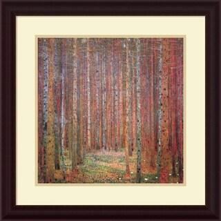 Gustav Klimt 'Tannenwald I (Fir Forest)' Framed Art Print 24 x 24-inch