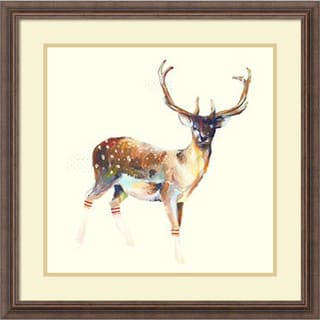 Charmaine Olivia 'Deer Wearing Gym Socks' Framed Art Print 25 x 25-inch