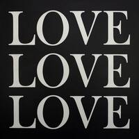 Love in Silver Hand Painted Canvas Wall Art - Multi