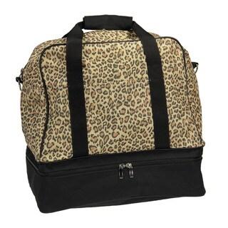 Household Essentials Leopard Weekender Bag with Shoulder Strap