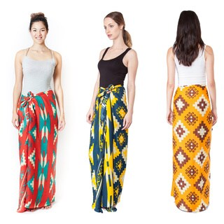 Women's Colorful Printed Sarong Wrap