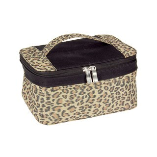 Household Essentials Leopard Expandable Travel Bag with Mirror
