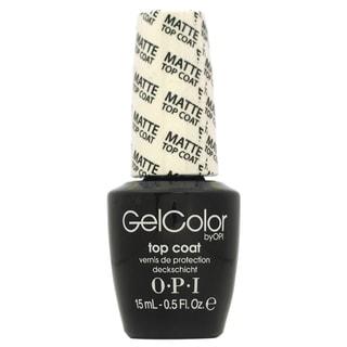 OPI GelColor Matte Top Coat Soak-Off Gel Lacquer