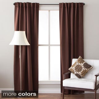 Arlo Blinds Back Tab Blackout Curtains 96 inch height, Panel Pair Total Width: 104 inch