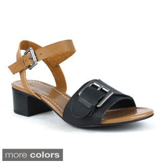 Mark and Maddux Women's Stanley-03 Stacked Heel Sandals