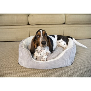 Iconic Pet Square Bolster Luxury Lounge Pet Bed