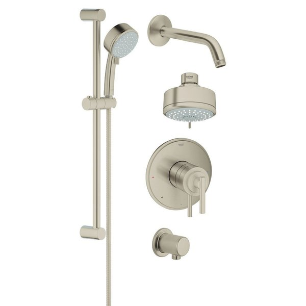 Grohe Atrio Jota Atrio Trimset Bath Plus Shower Set Brushed Nickel