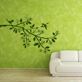 Sparrow Branch - vinyl wall decal