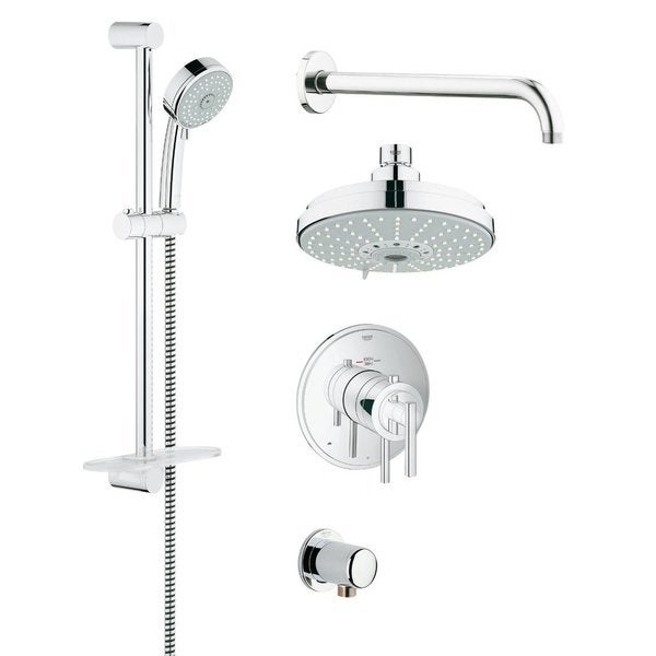 Shop Grohe 35056000 GrohFlex Chrome Finish Rainshower and Hand ...