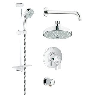 Grohe 35056000 GrohFlex Chrome Finish Rainshower and Hand Shower Set
