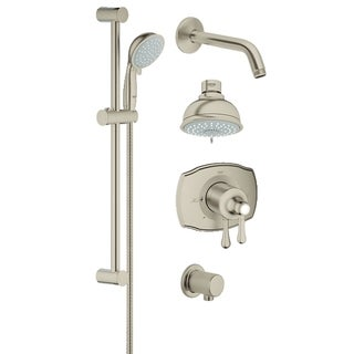 Grohe Grohsafe 2000 Authentic Bath Plus Shower Set Starlight Chrome