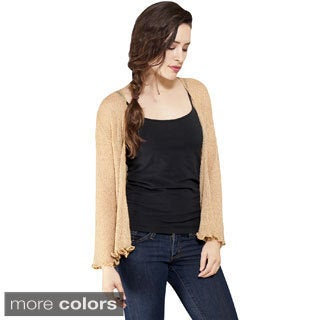 Women's Petite Light Netted Bali Open Cardigan Top (Indonesia)