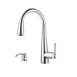 Pfister Lita Pull Down Kitchen Faucet Polished Chrome