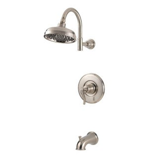 Pfister Ashfield Shower Trim 808 As with Lvr Sn Brushed Nickel