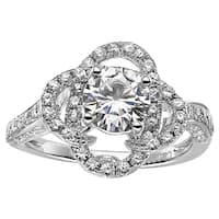 Charles & Colvard Sterling Silver 1.68 TGW Round Classic Moissanite Solitaire Fashion Ring
