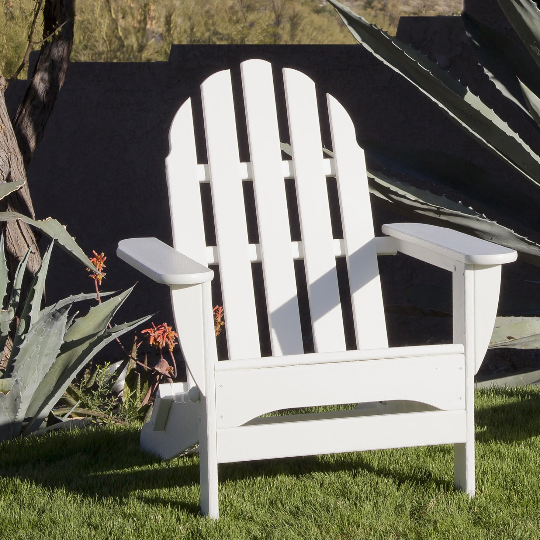 Ivy Terrace IVAD5030WH Classics Folding Adirondack Chair White