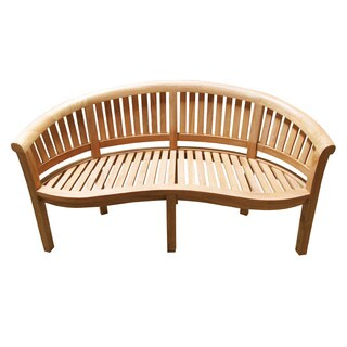 Handmade D-Art California Teak Wood Wide Bench (Indonesia)