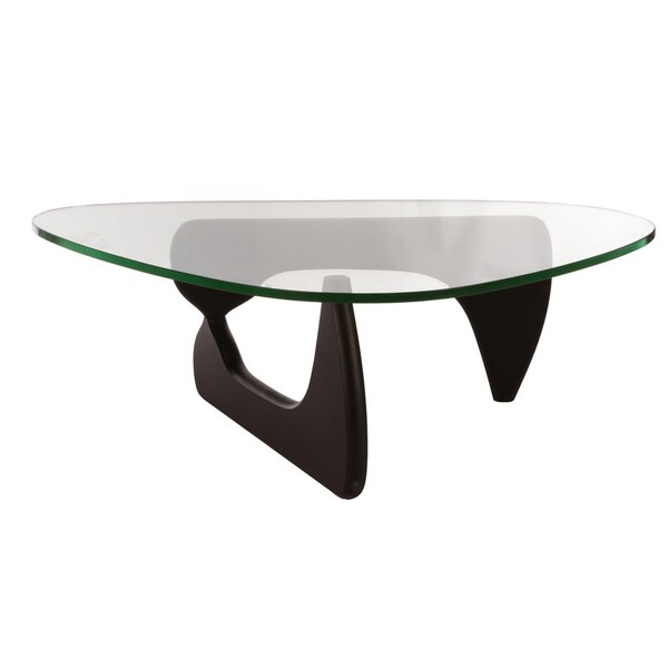 Perfect Mod Made Mid Century Modern Tribeca Tempered Glass Top Coffee Table   Free  Shipping Today   Overstock.com   17156471