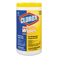 Clorox 7 x 8-inch Lemon Scent Disinfecting Wipes 75-count Canister