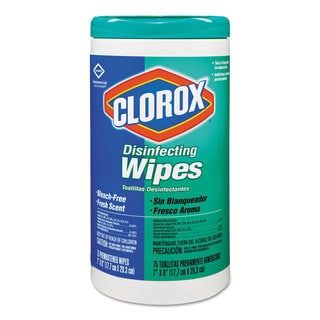 Clorox 7 x 8-inch Fresh Scent Disinfecting Wipes 75-count Canister