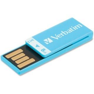 Verbatim 8GB Clip-It USB Flash Drive - Caribbean Blue