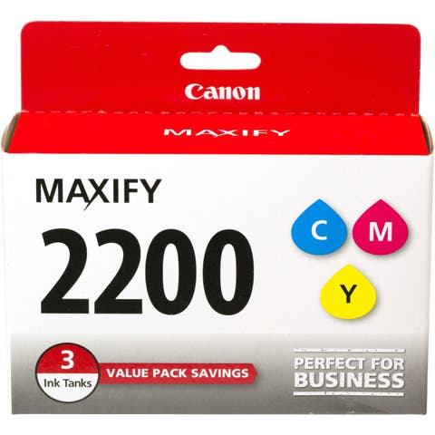 Canon PGI-2200 CMY Ink Cartridge - Yellow, Cyan, Magenta