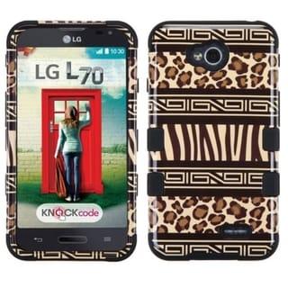 Insten Zebra Hard PC/ Silicone Hybrid Phone Case Cover For LG Optimus Exceed 2 VS450PP Verizon/ Optimus L70 MS323/ Realm LS620