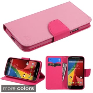 Insten Leather Phone Case Cover with Stand/ Wallet Flap Pouch For Motorola Moto G 2nd Gen