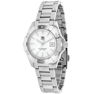 Tag Heuer Women's WAY1411.BA0920 Aquaracer Round Silvertone Bracelet Watch