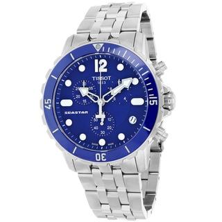 Tissot Men's T0664171104700 Seastar Round Silvertone Bracelet Watch