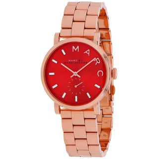 Marc Jacobs Women's MBM3344 Baker Round Rosetone Bracelet Watch