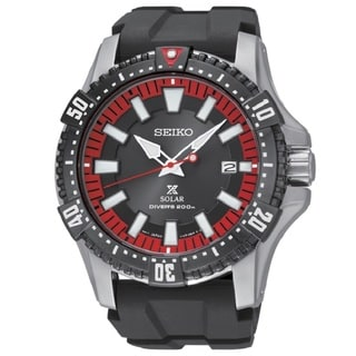 Seiko Men's SNE383 Stainless Steel Solar Diver Watch
