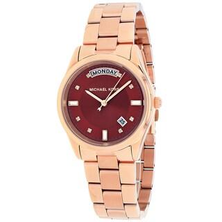 Michael Kors Women's MK6103 Colette Round Rosetone Bracelet Watch