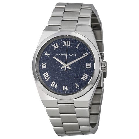 Michael Kors Women's Channing Round Silvertone Bracelet Watch
