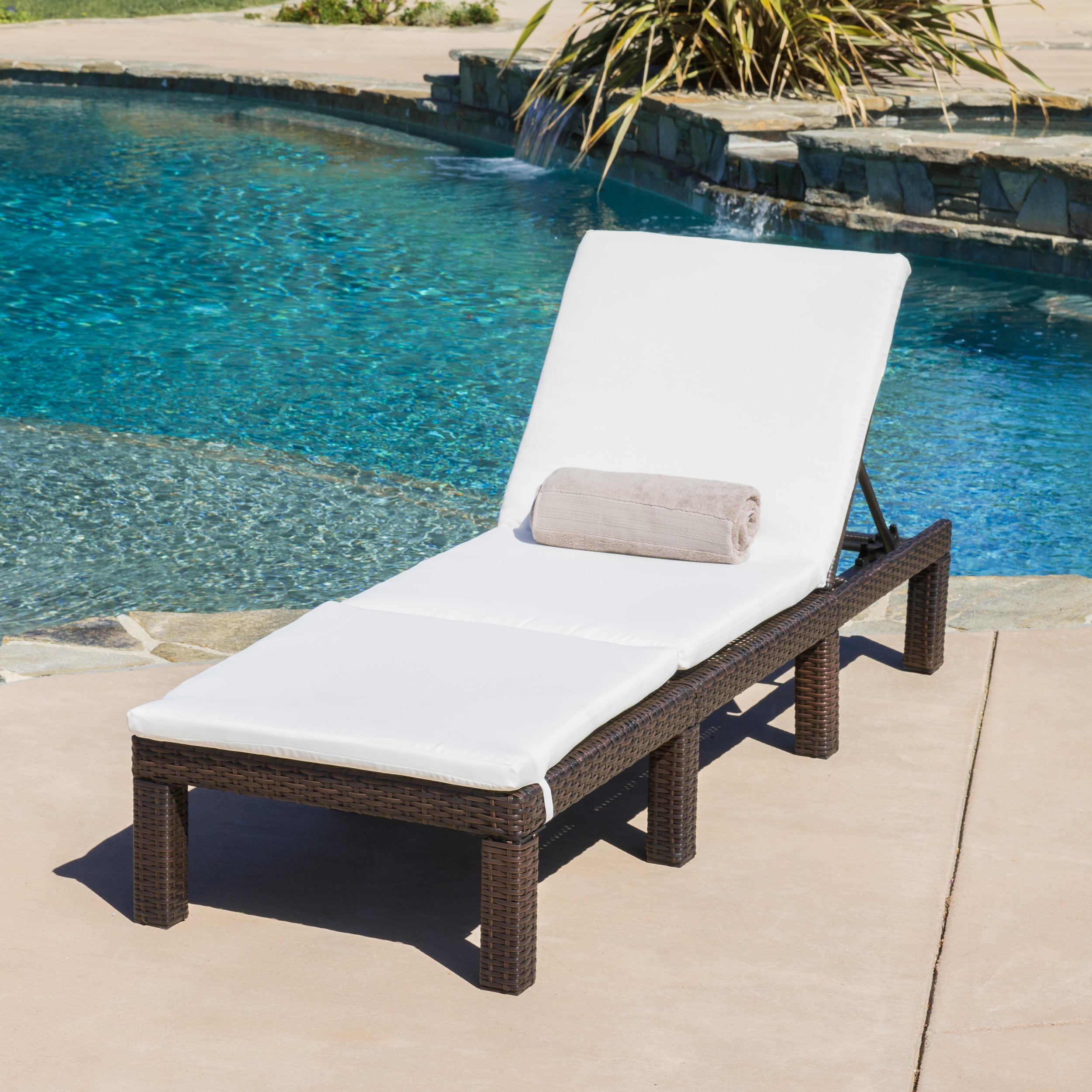 Jamaica Outdoor Chaise Lounge with Cushion by Christopher...