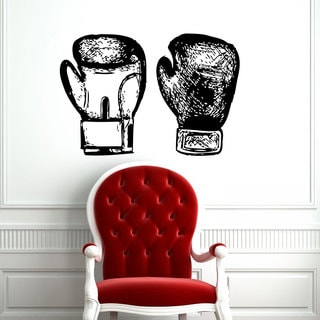 Boxing Gloves Vinyl Wall Art