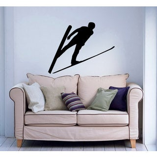 Mid Air Nordic Ski Jumper Vinyl Wall Art