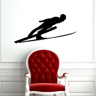 Nordic Ski Jumper Vinyl Wall Art