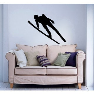Flying Nordic Ski Jumper Vinyl Wall Art