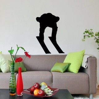 Ski Jumper in Tuck Vinyl Wall Art