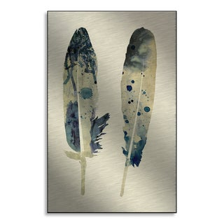 Gallery Direct NEO's 'Spotted Feathers II' Print on Metal