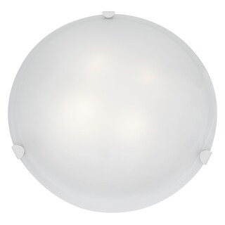 Access Lighting Mona LED 20-inch Wall/ Flush Mount, White with White