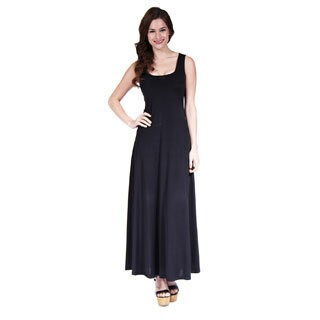 24/7 Comfort Apparel Women's Scoop-Neck Tank Maxi Dress (More options available)
